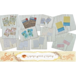 Journaling Cards - 13cm x 9cm  Wzory 2szt TAG